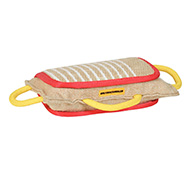 Golden Retriever Bite Pad Made of Jute with 3 Handles