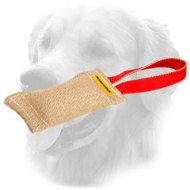 Pocket Size Jute Golden Retriever Bite Tug for Puppy Training