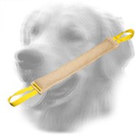 Long Jute Golden Retriever Bite Tug for Bite Skills Developing