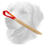 Jute Golden Retriever Bite Tug with Loop-Like Handle