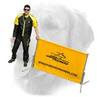 Schutzhund Polymer Barrier for Golden Retriever Training