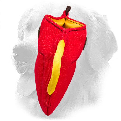 French Linen Golden Retriever Bite Builder with Comfortable Handles