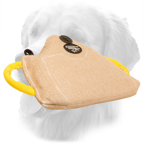 Jute Golden Retriever Bite Builder for Training of Young Dogs