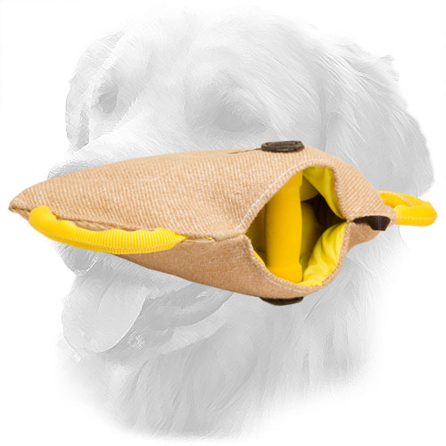 Durable Jute Golden Retriever Bite Builder with One Inside Handle