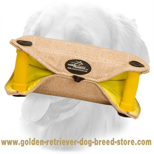 Durable Jute Golden Retriever Bite Builder with Two Handles