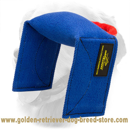 French Linen Golden Retriever Bite Pad for Training