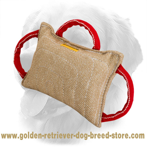 Jute Golden Retriever Bite Pad for Dog Training