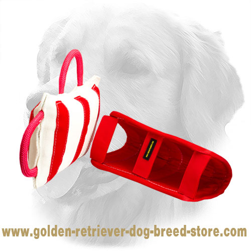 Golden Retriever Bite Pad with Three Easy-to-Grab Handles