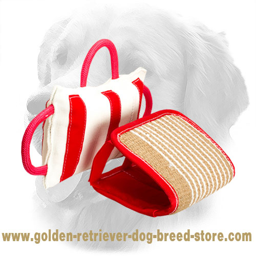 Pro Golden Retriever Bite Pad with Removable Jute Cover