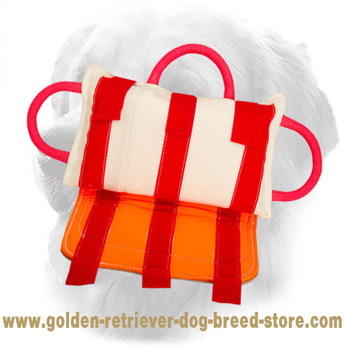 Golden Retriever Bite Pillow with Three Easy-to-Grab Handles