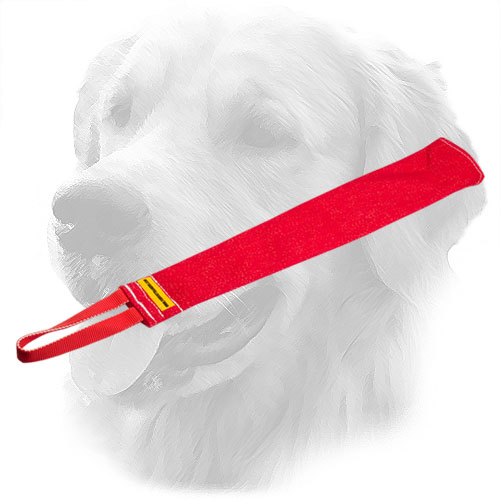 Durable Golden Retriever Bite Rag with One Handle