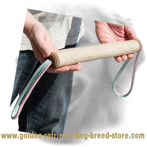 Jute Golden Retriever Bite Roll for Training of Puppies