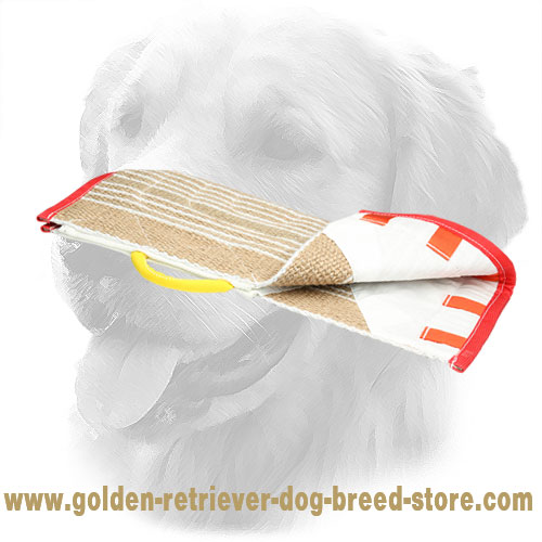 Durable Jute Golden Retriever Bite Sleeve Cover with Comfy Handle