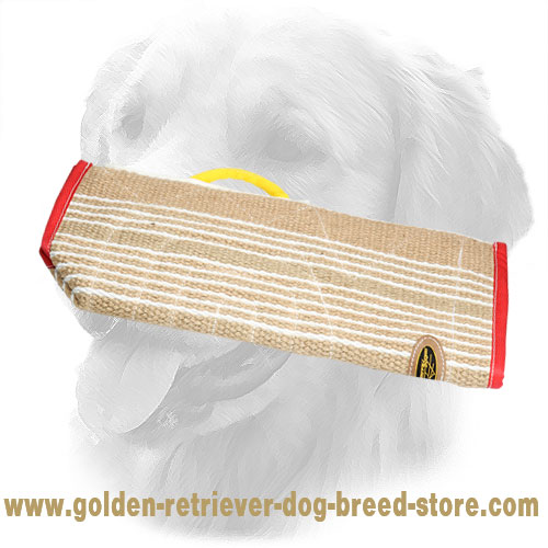 Jute Golden Retriever Bite Sleeve Cover for More Effective Training