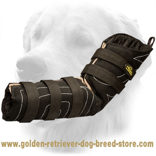 French Linen Golden Retriever Bite Sleeve for Police Dogs