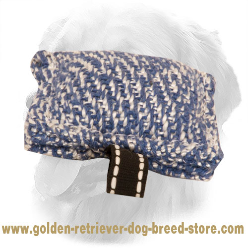 French Linen Golden Retriever Bite Tug for Puppy Training
