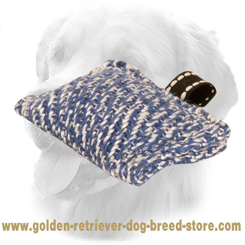 Pocket Size Golden Retriever Bite Tug with One Handle