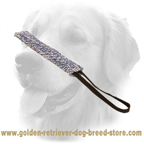 French Linen Golden Retriever Bite Tug for Dog Training