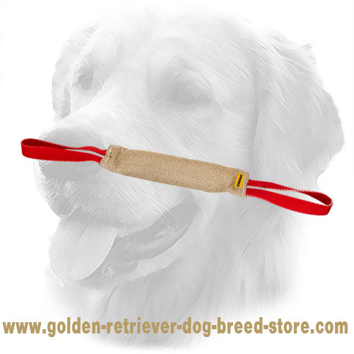 Jute Golden Retriever Bite Tug for Effective Training