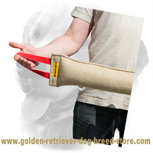 Jute Golden Retriever Bite Tug with Two Handles