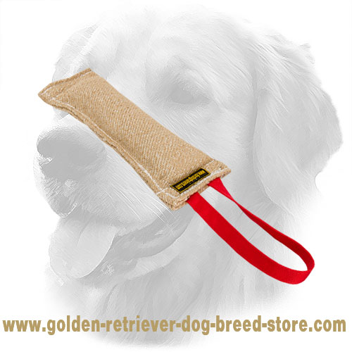 Jute Golden Retriever Bite Tug with One Handle