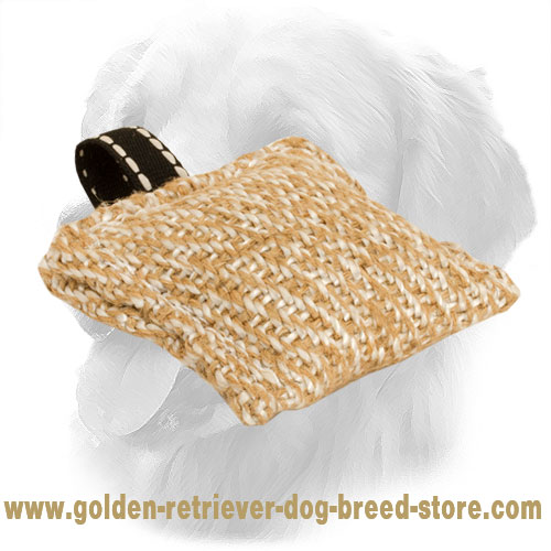 Jute Golden Retriever Bite Tug for Dog Training