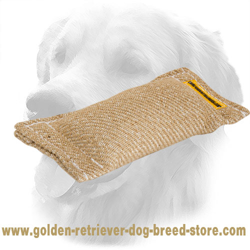 Jute Golden Retriever Bite Tug Without Handles