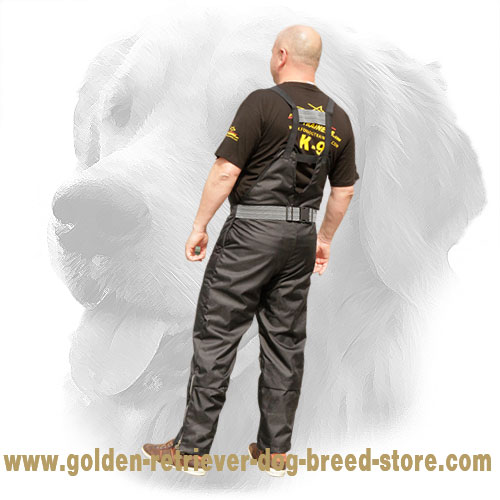 Nylon Protection Scratch Pants for Golden Retriever Schutzhund Training