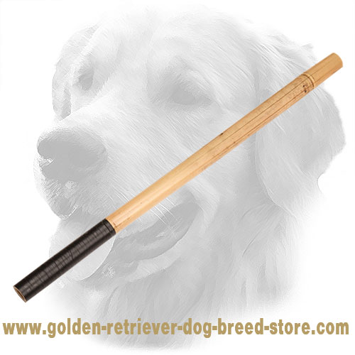 Golden Retriever Stick Made of Bamboo