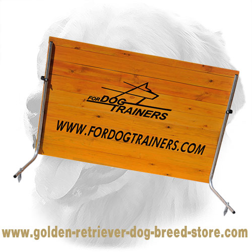 Schutzhund Wooden Jump for Golden Retriever Field Training