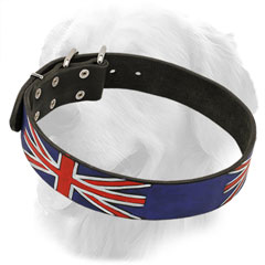 Stylish Golden Retriever Collar with UK Flag Painting