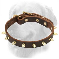Original Leather Collar with Spikes