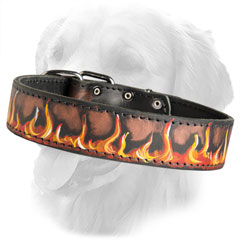 Handpainted Ergonomic Design Leather Collar