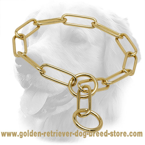 Strong Brass Golden Retriever Fur Saver for Training