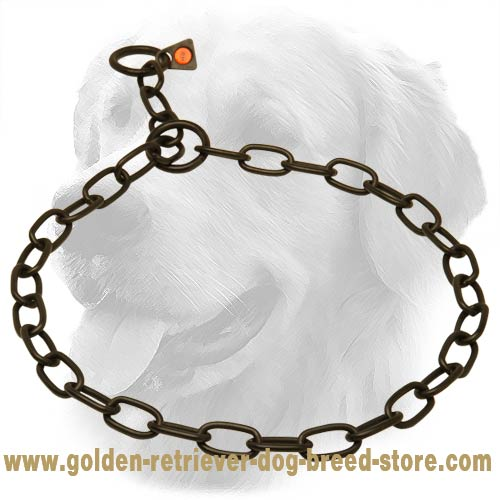 Stylish Stainless Steel Golden Retriever Fur Saver with Small Links