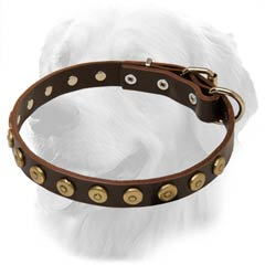 Golden Retriever Dog Leather Collar Small Decorations