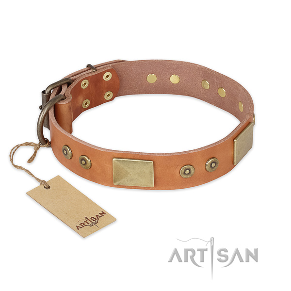 Perfect fit full grain genuine leather dog collar for comfortable wearing