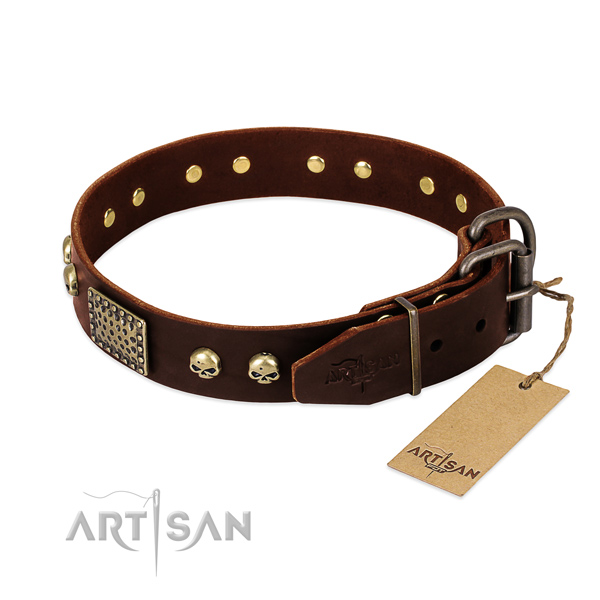 Strong fittings on handy use dog collar