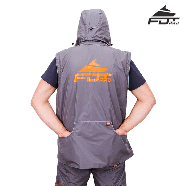 High Quality Dog Training Suit of Grey Color from FDT Wear