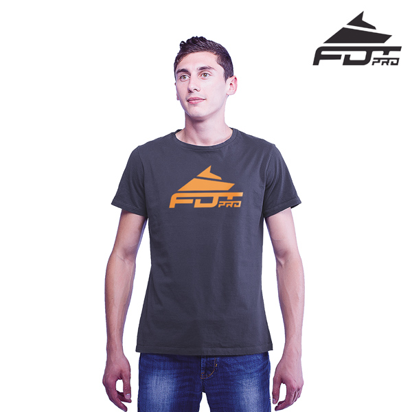 Quality Cotton FDT Pro Men T-shirt Dark Grey