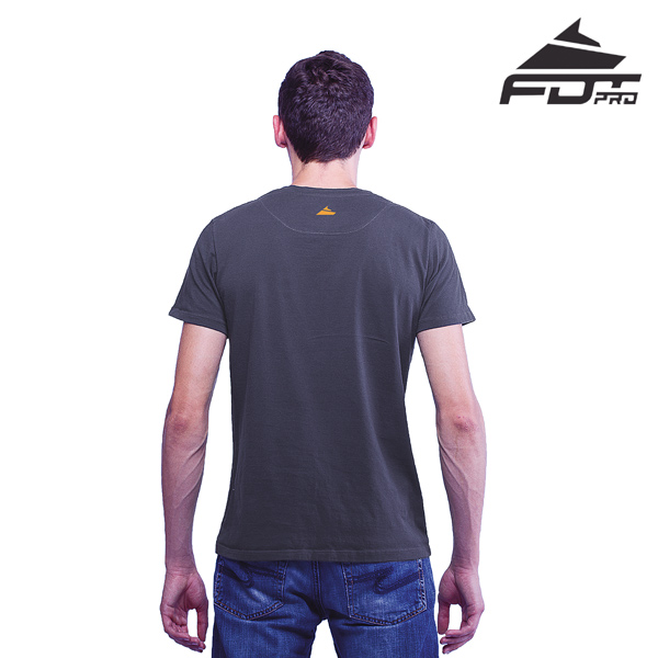 Men T-shirt of Dark Grey FDT Pro for Dog Walking