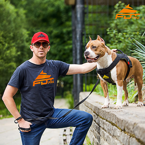 Men T-shirt of Fine Quality Cotton with FDT Professional Logo for Dog Trainers