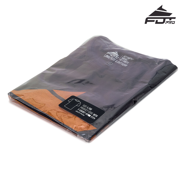 Prepacked Professional Design T-shirt of Dark Grey Color