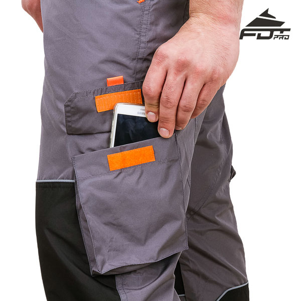 FDT Pro Design Dog Training Pants with Durable Velcro Side Pocket