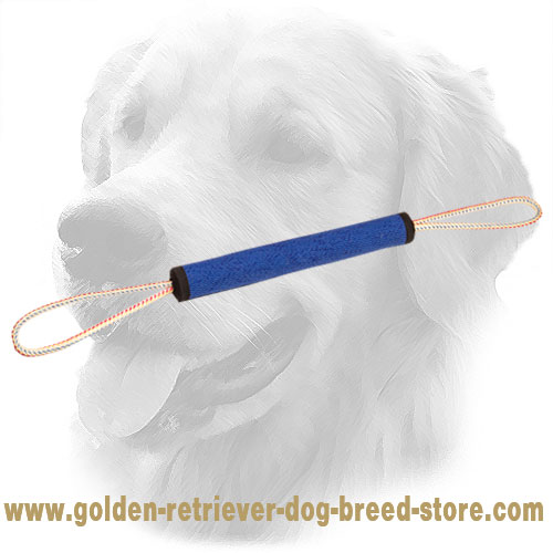 Durable French Linen Golden Retriever Bite Roll for Puppy Training