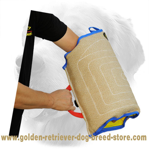Jute Golden Retriever Bite Sleeve for Puppy Training