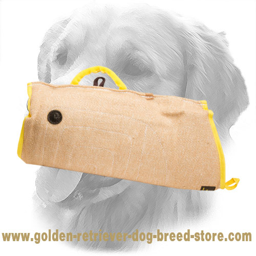 Basic Jute Golden Retriever Bite Sleeve for Puppy Training
