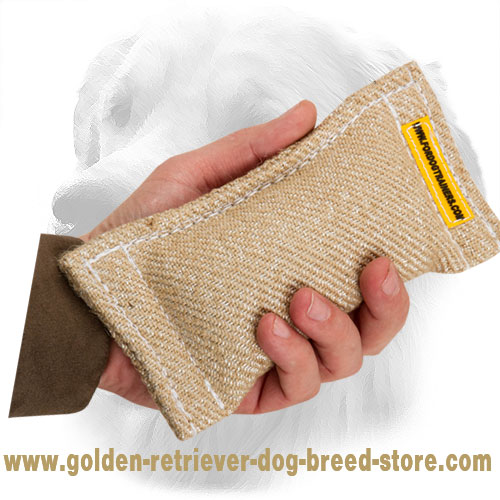 Puppy Jute Golden Retriever Bite Tug Without Handles