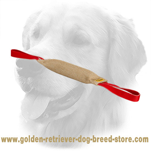 Professional Jute Golden Retriever Bite Tug
