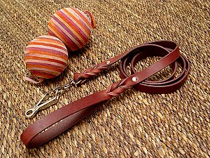 Golden Retriever Leather Leash 13 mm HS Snap Hook